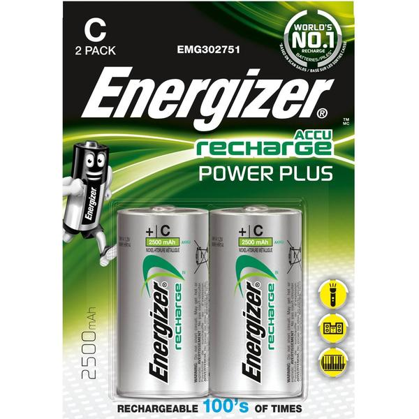 Energizer C Accu Power Plus 2500mAh Compatible 2-pack