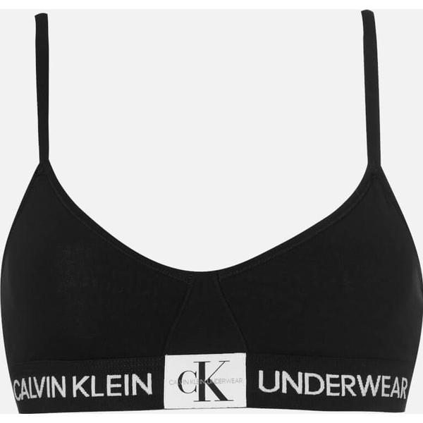 Calvin Klein Monogram Triangle Bra Black (000QF4919E)