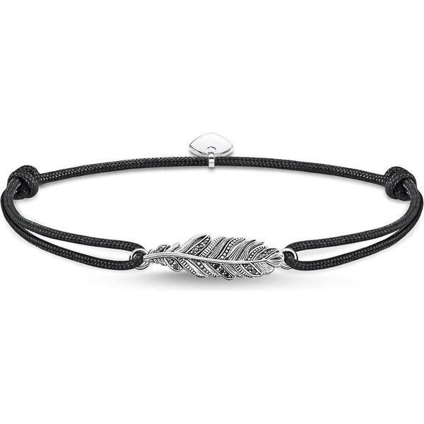 5094f32952d12 Thomas Sabo Little Secret Feather Silver Bracelet w. Black Zirconia  (LS063-889-