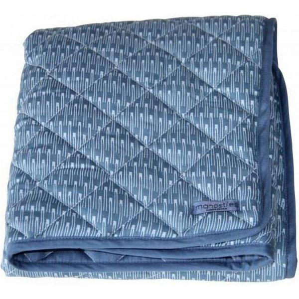 Manostiles Quiltet tæppe Oyster Blue