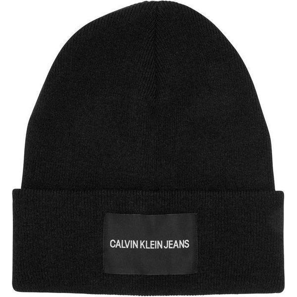 Calvin Klein Patch Beanie - Black