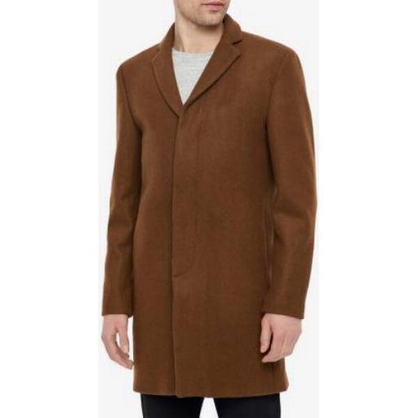 Selected Wool Coat - Brown/Monks Robe