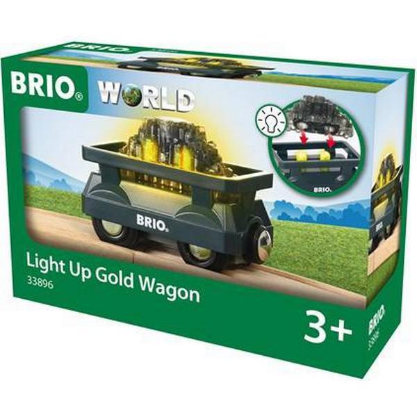 Brio Guldvogn med Lys 33896