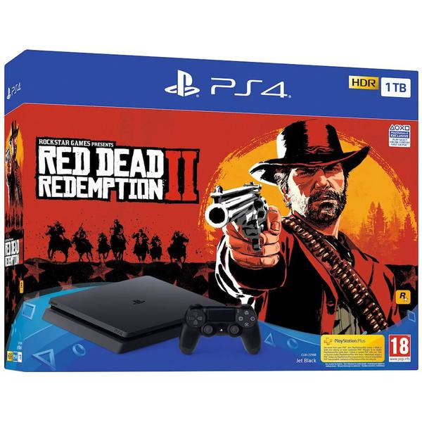 Sony PlayStation 4 Slim 1TB - Red Dead Redemption II