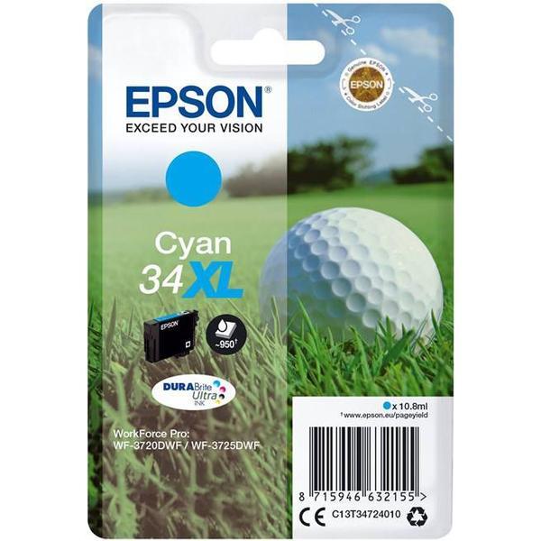 Epson (C13T34724010) Original Bläckpatron Cyan 10.8 ml 950 Sidor