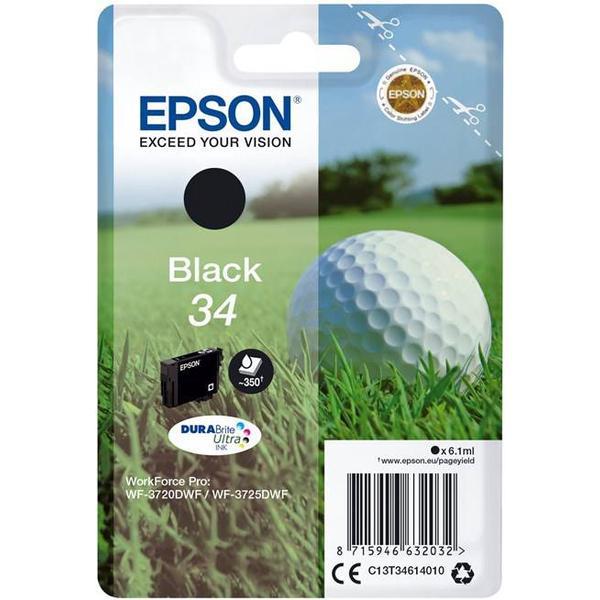 Epson (C13T34614010) Original Bläckpatron Svart 6.1 ml 350 Sidor