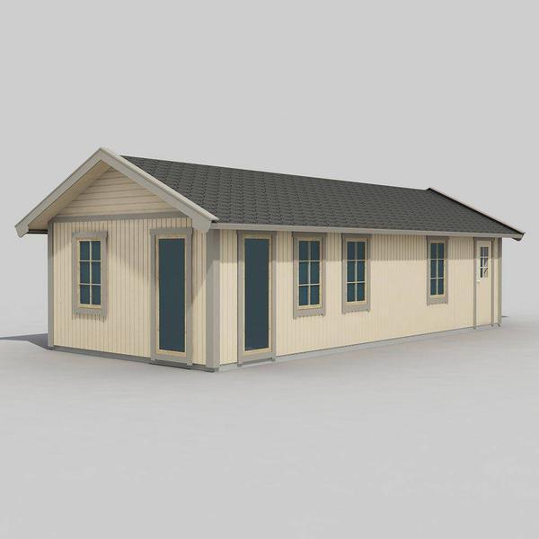 Trähuset Wilma (Byggnadsarea 40 m²) Stugpaket