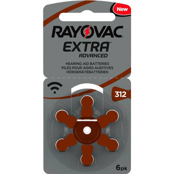 Rayovac Extra Advanced 312 6-pack