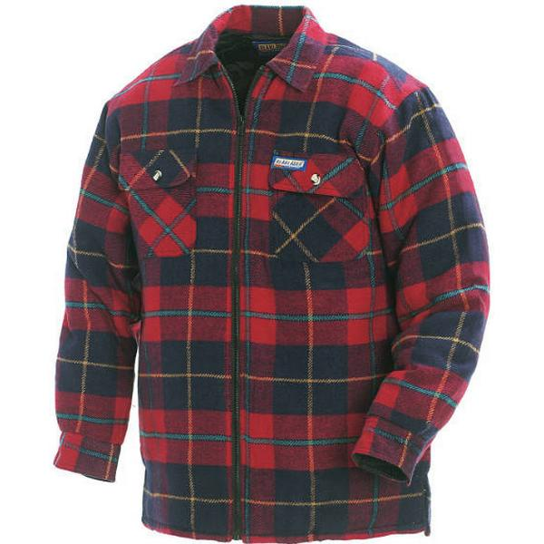 Blakläder Lined Flannel Shirt - Red/Navy Blue