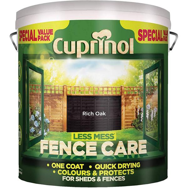 Cuprinol Less Mess Fence Care Wood Protection Brown 6L