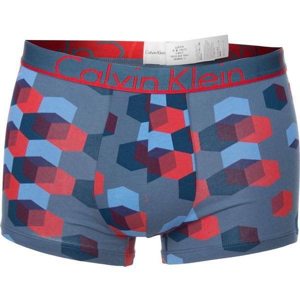 Calvin Klein ID Cotton Trunk - Blue/Red