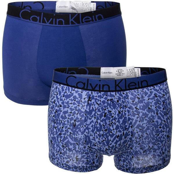 Calvin Klein ID Cotton Trunks 2-pack - Royal Blue