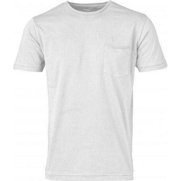 Knowledge Cotton Apparel Basic Tee with Chest Pocket - Bright White