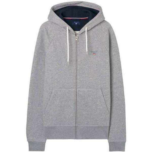 Gant Original Fullzip Sweat Hoodie - Grey Melange