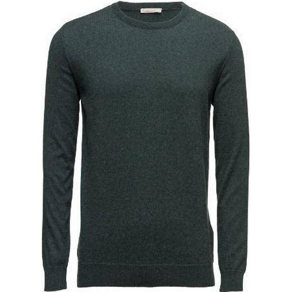 Knowledge Cotton Apparel Basic O-Neck Sweatshirt - Green Gables