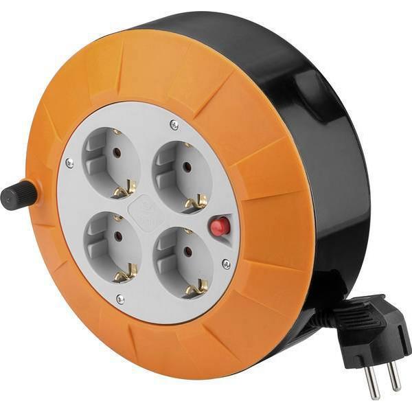 Goobay 71352 4-way 5m Cable Drum