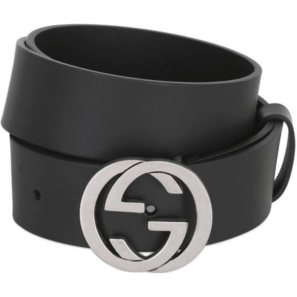 Gucci Leather Belt Black (368186 BGH0N 1000)