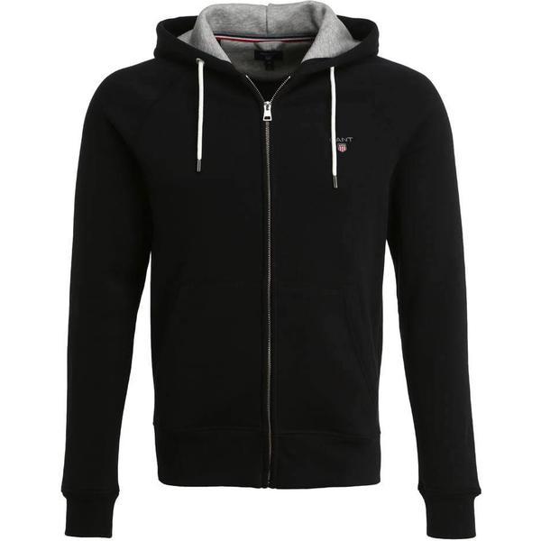 Gant Original Full Zip Sweat Hoodie - Black