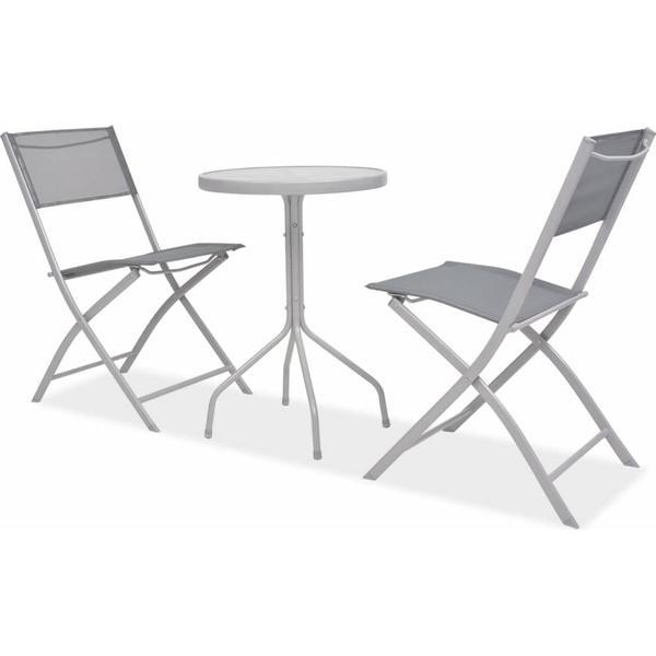 vidaXL 43784 Cafésæt, 1 borde inkl. 2 stole