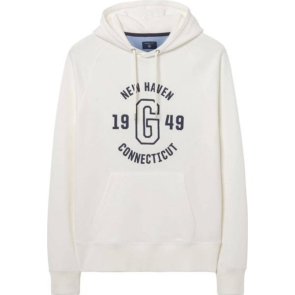 Gant Graphic Embroidered Hoodie - Eggshell