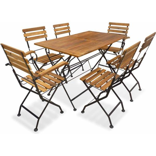 vidaXL 43731 Havemøbelsæt, 1 borde inkl. 6 stole