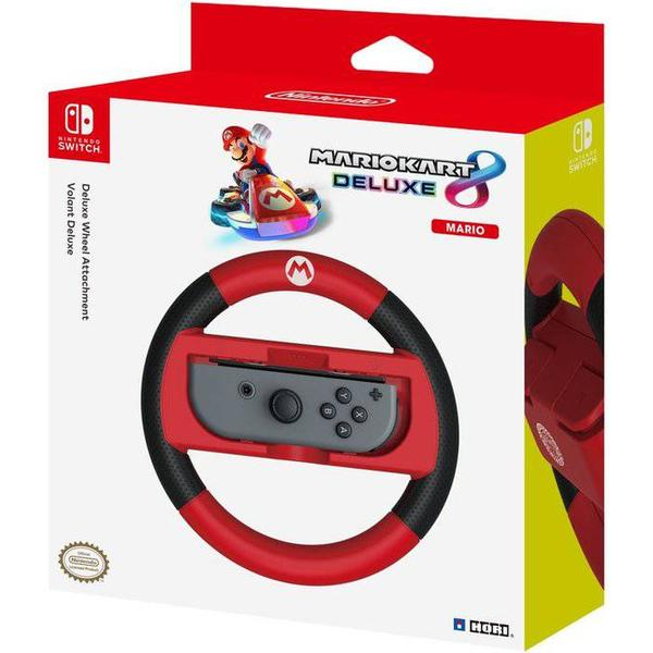 Hori Nintendo Switch Mario Kart 8 Deluxe Racing Wheel Controller (Mario) - Black/Red