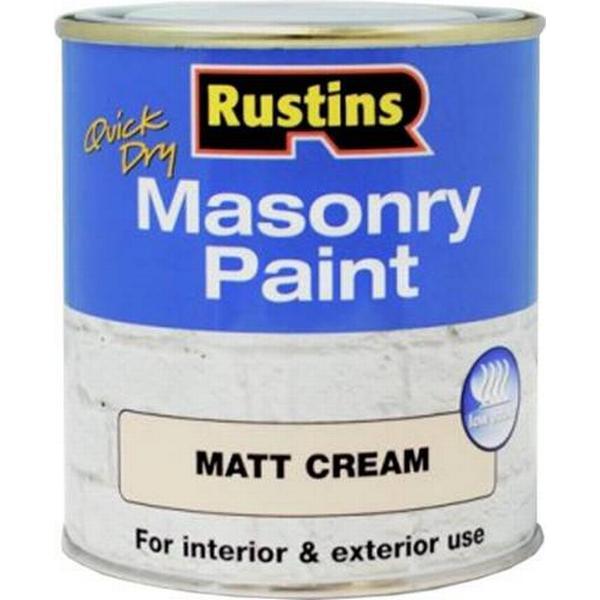 Rustins Quick Dry Masonry Concrete Paint Beige 0.5L