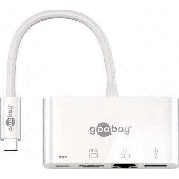 Goobay Multiport USB C-HDMI/RJ45/USB A/USB C M-F 0.15m
