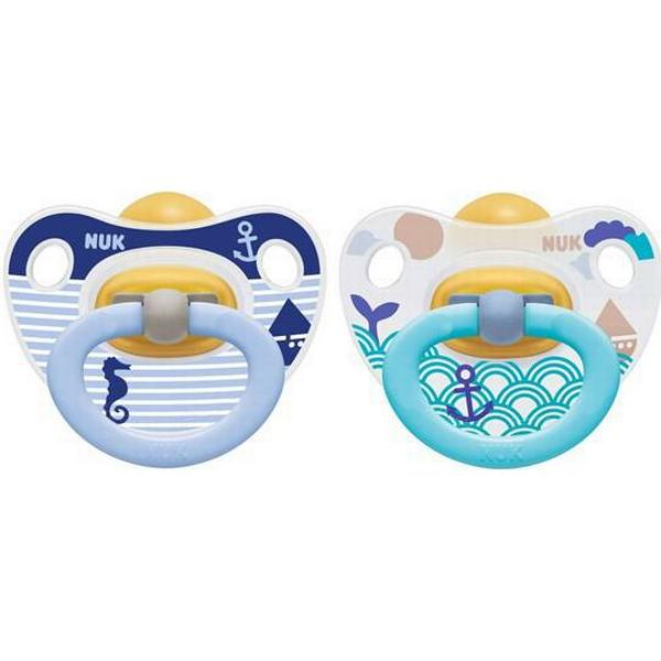 Nuk Happy Kids Latex Soother Size 3 18-36m 2-pack