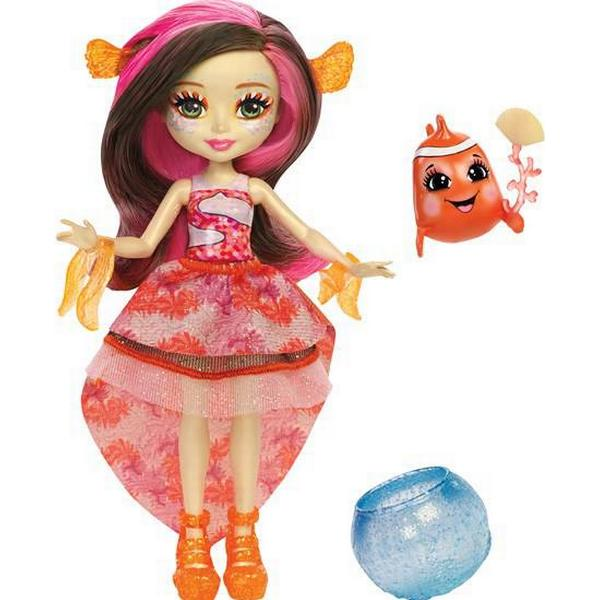Mattel Enchantimals Clarita Clownfish Doll & Cackle Water Animal Figure FKV56