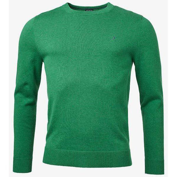 Boomerang Sandler Organic O-Neck Sweater - Racing Green