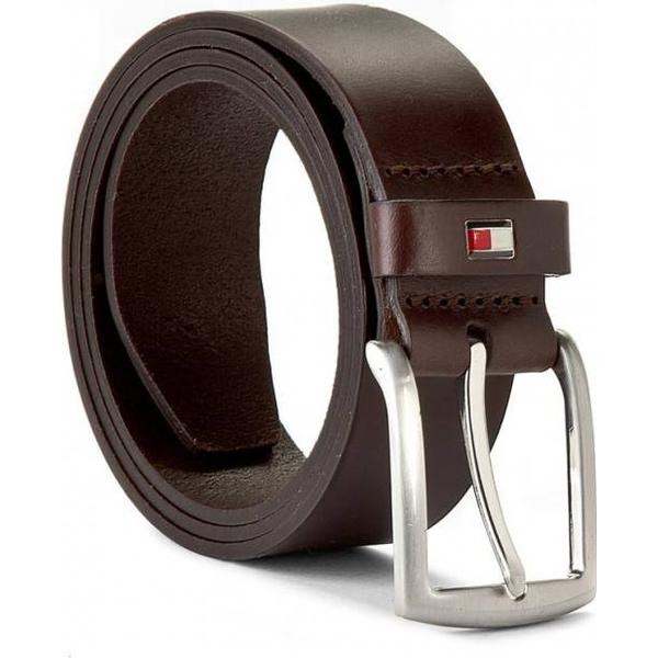 Tommy Hilfiger Denton Rounded Buckle Leather Belt - Testa Di Moro-Eur