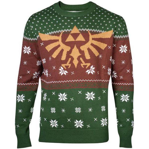 Nintendo Legend of Zelda Golden Hyrule Knitted Sweater - Dark Green/Brown