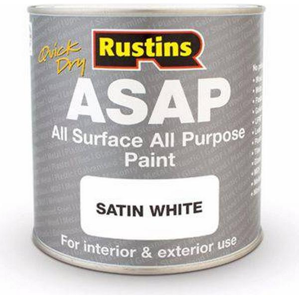 Rustins Quick Dry All Surface All Purpose Wood Paint White 0.5L