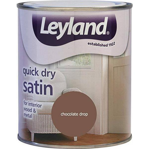 Leyland Trade Quick Dry Satin Wood Paint, Metal Paint Brown 0.75L