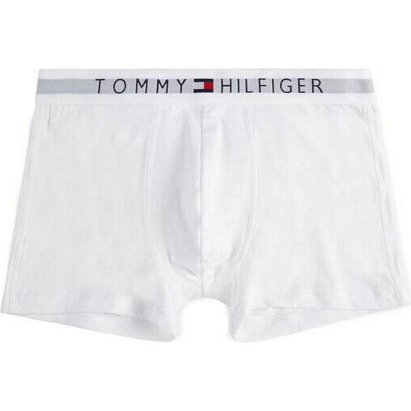 Tommy Hilfiger Branded Cotton Boxer Shorts - White