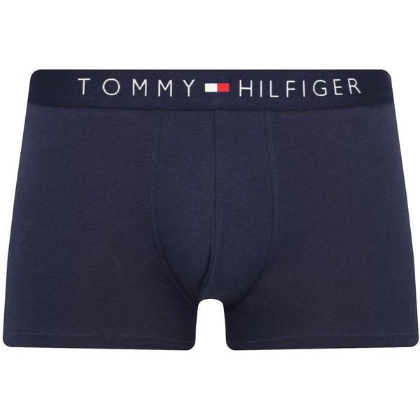 Tommy Hilfiger Branded Cotton Boxer Shorts - Navy Blazer Pt