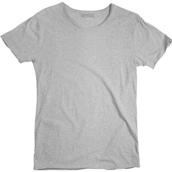 Bread and Boxers Crew-Neck Relaxed T-shirt - Grey Melange