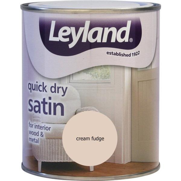 Leyland Trade Quick Dry Satin Wood Paint, Metal Paint Beige 0.75L