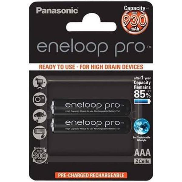Panasonic Eneloop Pro AAA Compatible 2-pack