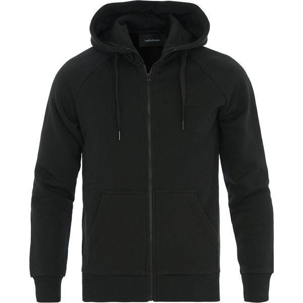 Peak Performance Logo Zip Hood - Black