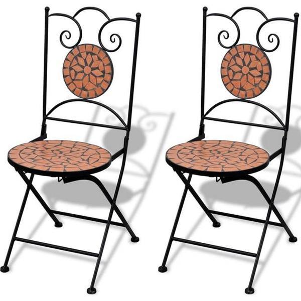vidaXL 41529 2-pack Armløs stol