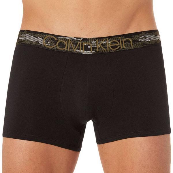 Calvin Klein Camo Cotton Trunk - Black