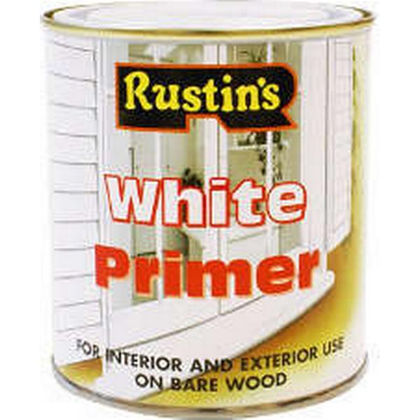 Rustins White Primer Wood Paint White 0.5L