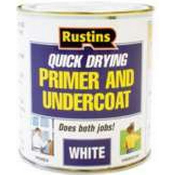 Rustins Quick Dry Primer & Undercoat Wood Paint White 1L