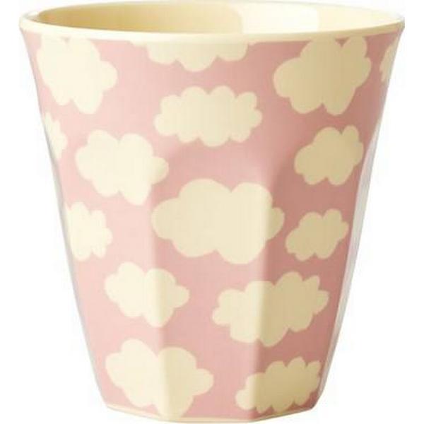 Rice Melamine Cup with Cloud Print Medium