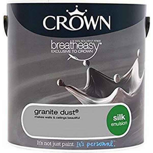 Crown Silk Emulsion Wall Paint, Ceiling Paint Grey 2.5L