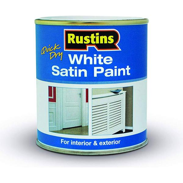 Rustins Quick Dry Wood Paint, Metal Paint White 0.5L