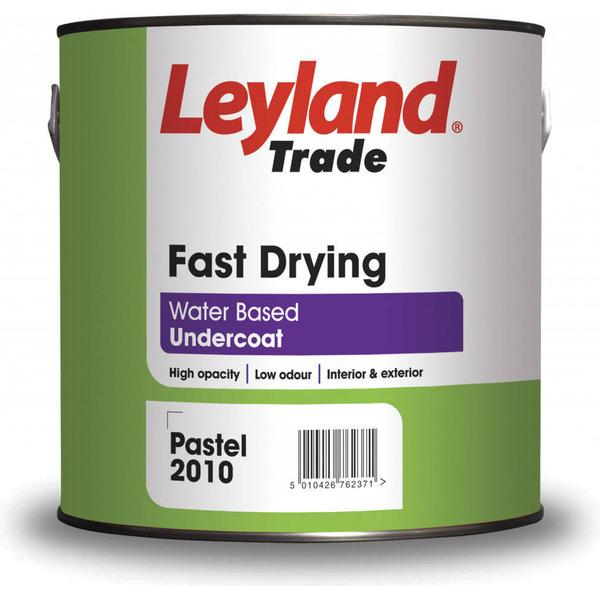 Leyland Trade Fast Drying Undercoat Wood Paint, Metal Paint White 2.5L