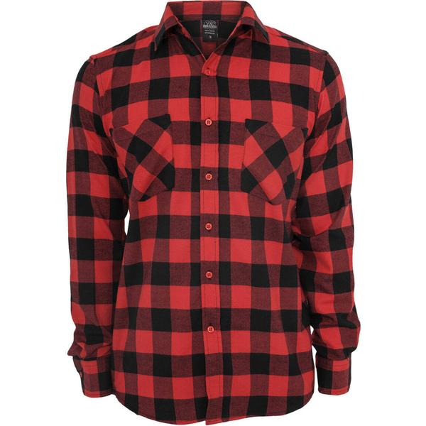 Urban Classics Checked Flanell Shirt - Black/Red